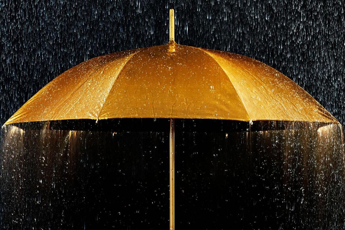 Chuva dourada com acompanhantes